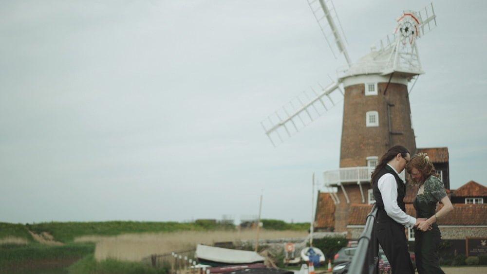 Norfolk Wedding Videographer Cley Windmill Jo Dave
