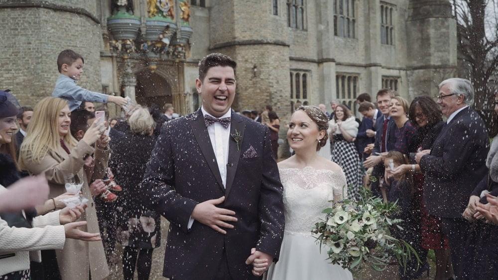 hengrave hall suffolk wedding videographer emily mark