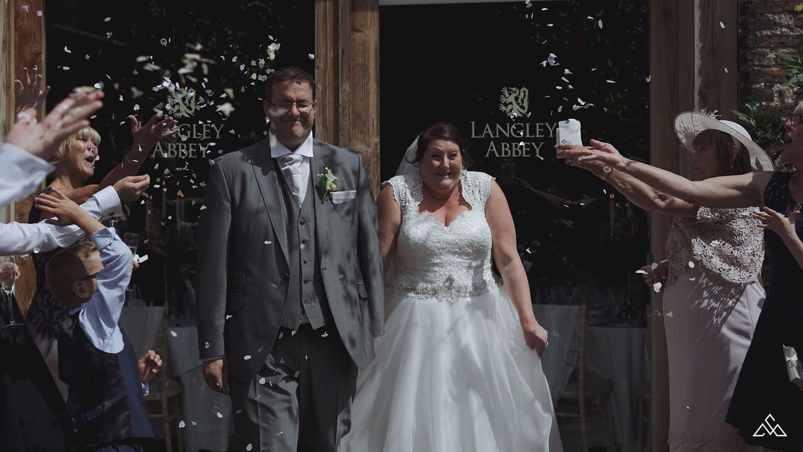 Glenn and Nicola why we booked a wedding video