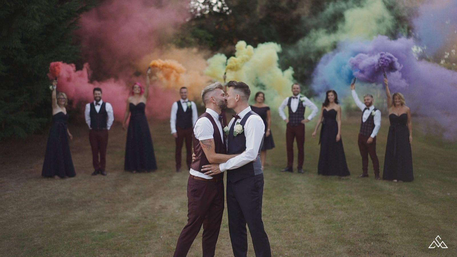Same Sex Norfolk Wedding Videographer Southwood Hall
