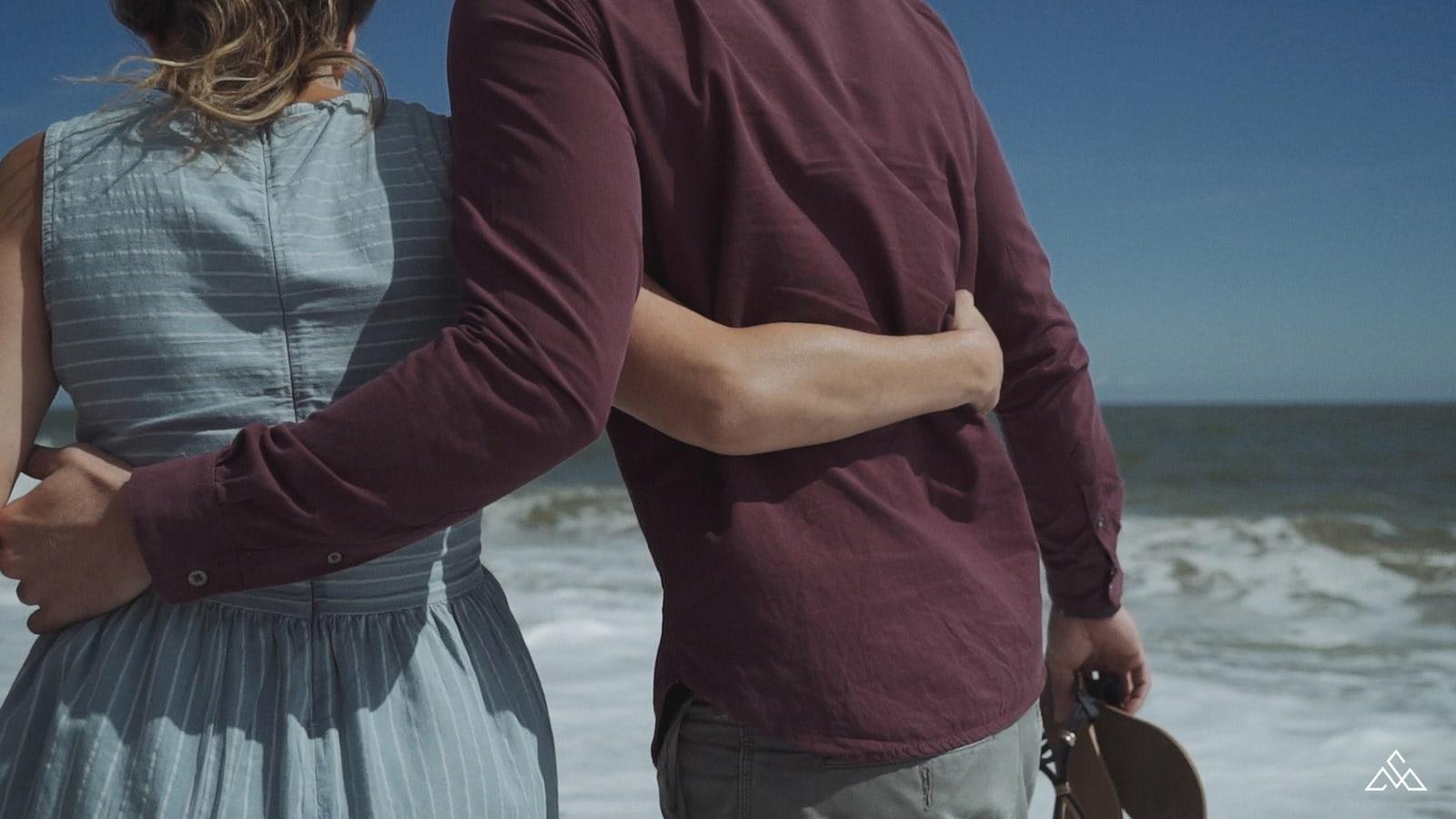 Norfolk Beach Engagement Videographer