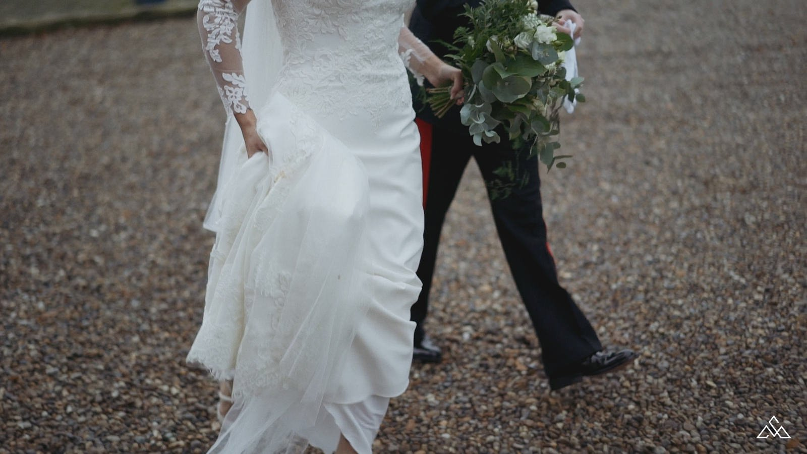 White Dove Barns Autumn Wedding Film Mafalda and Sian