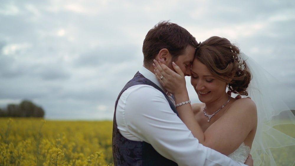 norfolk wedding videographer glebe farm barn laura brad