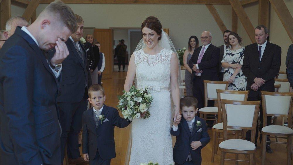 suffolk wedding videographer easton grange debs billy