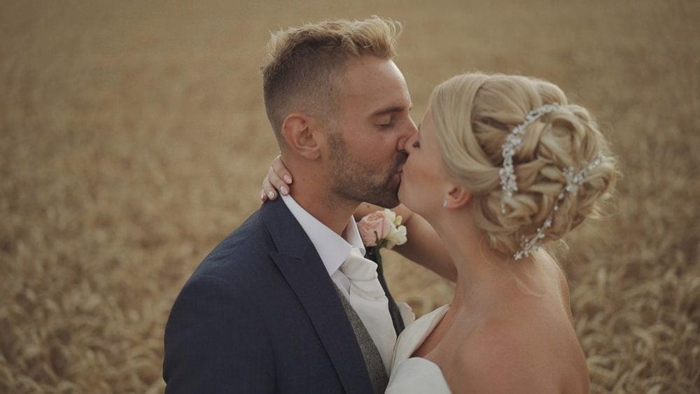 norfolk wedding videographer glebe farm barn katie callum
