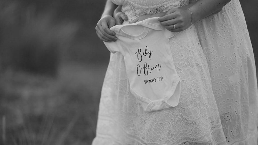 A Norfolk Beach Baby Announcement – Alex + Emily